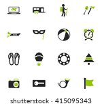 travel icon set for web sites... | Shutterstock .eps vector #415095343