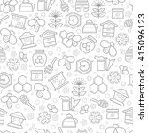 seamless pattern with stroked... | Shutterstock .eps vector #415096123