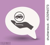 pictograph of car | Shutterstock .eps vector #415096573