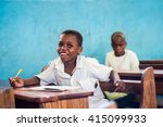 editorial use  boy at school in ... | Shutterstock . vector #415099933