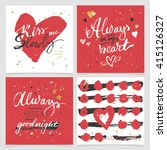 vector collection of love... | Shutterstock .eps vector #415126327
