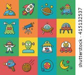 icon set space vector | Shutterstock .eps vector #415132537