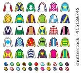 jockey uniform   jackets  silks ... | Shutterstock .eps vector #415136743