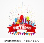 holiday celebration with... | Shutterstock .eps vector #415141177