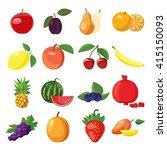 fruit set | Shutterstock . vector #415150093