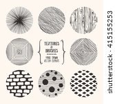 hand drawn textures and brushes.... | Shutterstock .eps vector #415155253