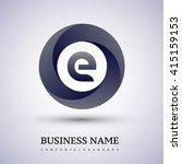 e letter logo in the circle....   Shutterstock .eps vector #415159153