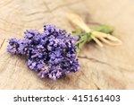 summer flowers. lavender bunch... | Shutterstock . vector #415161403