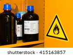 flammable chemicals in... | Shutterstock . vector #415163857