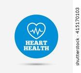 heartbeat sign icon. heart... | Shutterstock .eps vector #415170103