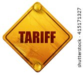 tariff  3d rendering  isolated...