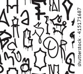 graffiti background seamless... | Shutterstock .eps vector #415171687