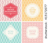 set of vintage frames in red ... | Shutterstock .eps vector #415172077