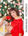 charming beautiful slender... | Shutterstock . vector #415182613