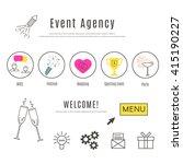 event agency web design... | Shutterstock .eps vector #415190227