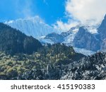 mingyong glacier and meili snow ... | Shutterstock . vector #415190383