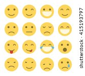 faces icons. set of emoticons... | Shutterstock . vector #415193797