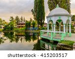 city park at the time of sunset ... | Shutterstock . vector #415203517