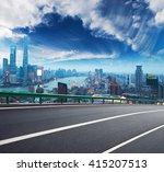 empty road textured floor with... | Shutterstock . vector #415207513