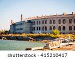 old soviet patarei prison from... | Shutterstock . vector #415210417
