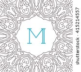 art nouveau text frame in mono...   Shutterstock .eps vector #415214557