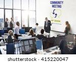 business people meeting... | Shutterstock . vector #415220047