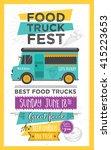 Food Truck Festival Menu Food...