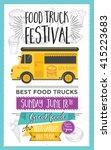 food truck festival menu food... | Shutterstock .eps vector #415223683