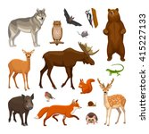 Stock vector forest animals set 415227133