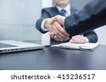 business handshake and... | Shutterstock . vector #415236517