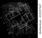 detailed architectural plan.... | Shutterstock .eps vector #415237267