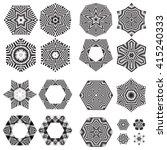 the circular pattern   vector... | Shutterstock .eps vector #415240333