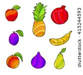 abstract fruit food graphic art ... | Shutterstock .eps vector #415244593