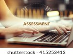 """Small photo of """" Assessment """" Internet Data Technology Concept"""