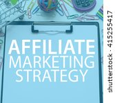 Small photo of Affiliate marketing strategy / Concept background