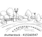 park graphic art black white... | Shutterstock .eps vector #415260547