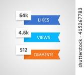 social media counters. vector...