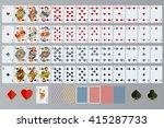 poker cards full set isolated | Shutterstock .eps vector #415287733
