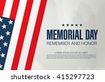memorial day. remember and...   Shutterstock .eps vector #415297723