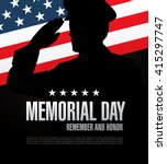 Stock vector memorial day remember and honor vector illustration 415297747