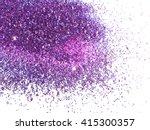 Purple Glitter Sparkle On Whit...