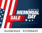 Stock vector memorial day sale banner template design 415306633