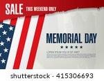 memorial day sale banner... | Shutterstock .eps vector #415306693
