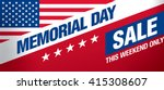 memorial day sale banner... | Shutterstock .eps vector #415308607