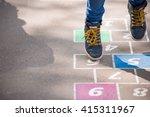 closeup of boy's legs and... | Shutterstock . vector #415311967