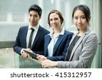 group of business people... | Shutterstock . vector #415312957