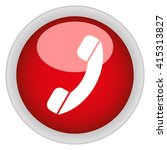 phone icon red glossy round... | Shutterstock .eps vector #415313827