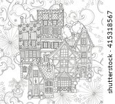 seamless pattern cute fairy... | Shutterstock . vector #415318567