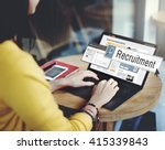 Stock photo recruitment job work vacancy search concept 415339843