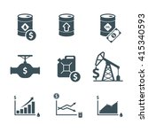 oil price up icon set. crude... | Shutterstock .eps vector #415340593